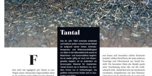 David Bock in der Goldschmiedezeitung mit Tantal als Material des Monats