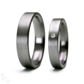 Tantal Ringe Haudarin® Material: Tantal und Diamant, Kollektion Linie